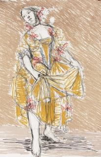 """""""apres boucher"""", pastel and carbon pencil, A2"""