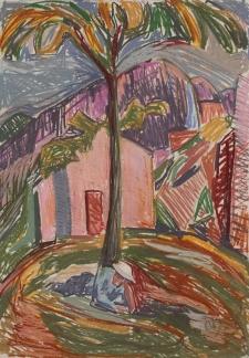 Fry landscape, pastel, A2